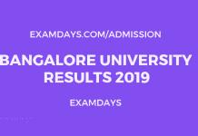 Bangalore university result 2019
