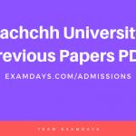 Kachchh University previous Papers PDF