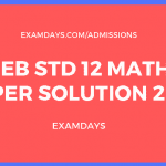 gseb 12 maths paper solution