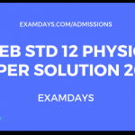 gseb 12 physics paper solution