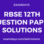 rbse 12 paper solution