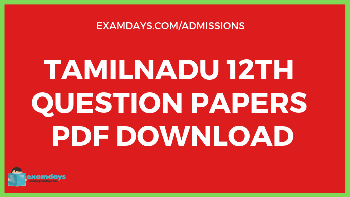 12th Tamil Question Paper 2019 - Examdays