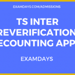 TS Inter Reverification 2019 Recounting Apply
