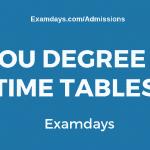 ou degree time tables