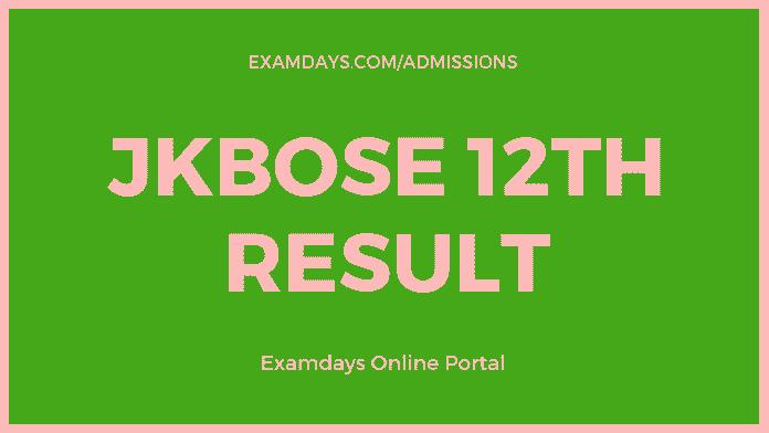 JKBOSE 12th Result
