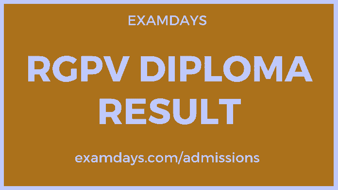 RGPV Diploma Result 2019 1st, 2nd, 3rd, 4th, 5th, 6th
