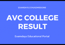 avc college result