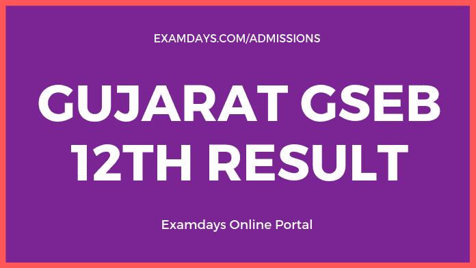 gseb 12th result