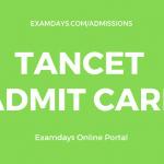 tancet admit card