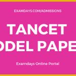 tancet model papers