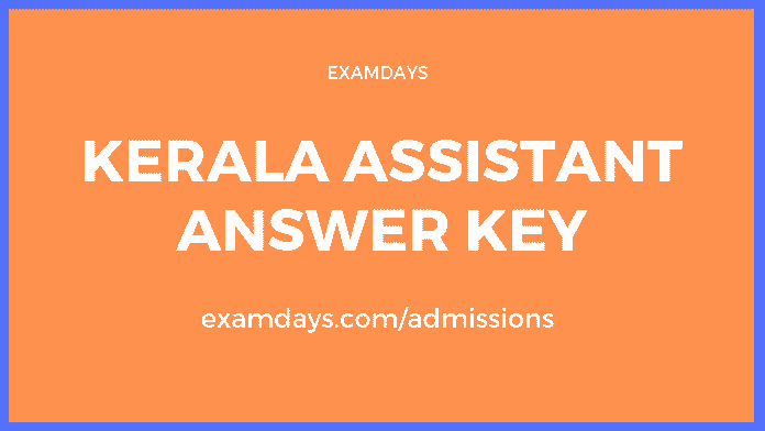 kerala assistant answer key