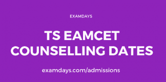 ts eamcet counselling dates