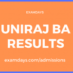 uniraj ba result