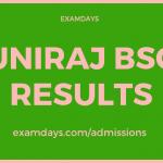 uniraj bsc result