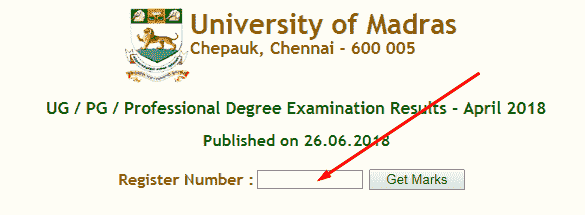 Madras University Results 2019 for UG PG 1st 2nd 3rd Year