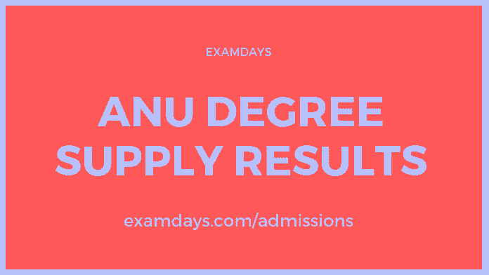anu degree supply results