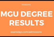 mgu degree results