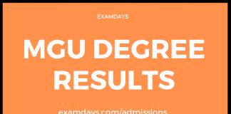 mgu ug cbcss resultsmgu ug revaluation results 2019mgu ug