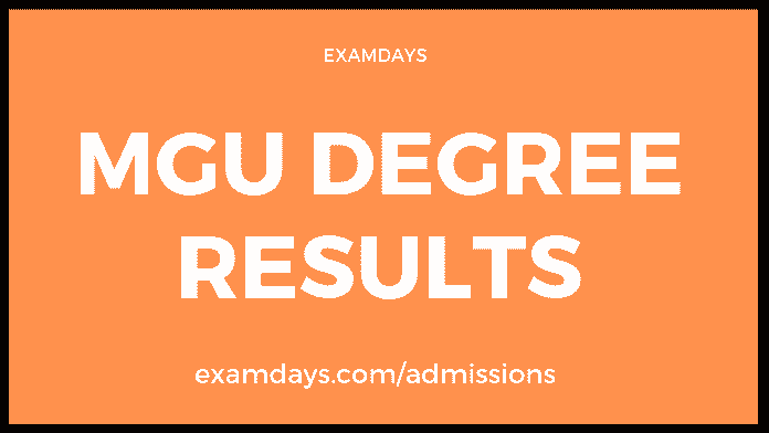 MGU Degree Results 2019 Manabadi 2nd, 4th, 6th Sem Results