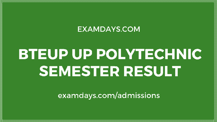 up polytechnic semester result