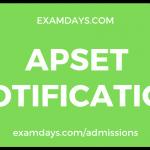 apset notification