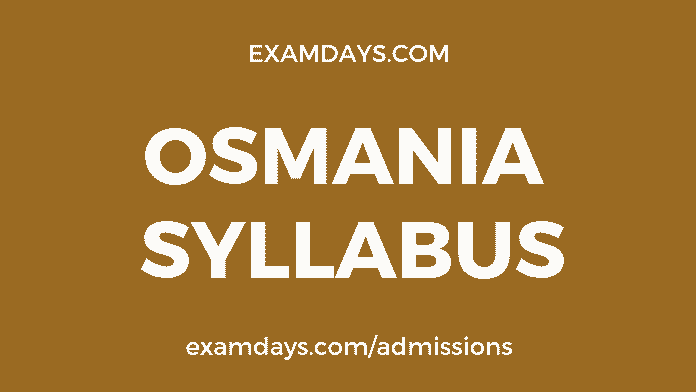 ou degree syllabus