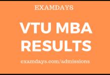 vtu mba results