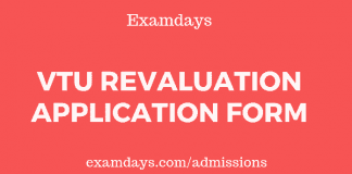 vtu revaluation application form