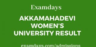 akkamahadevi university result