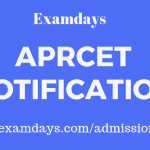 aprcet notification