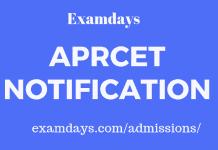 aprcet notification