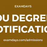 ou degree notification