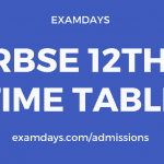 rbse 12th time table