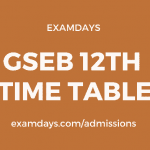 gseb 12 time table