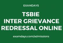 ts inter grievance redressal