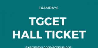 tgcet hall ticket