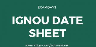 ignou date sheet