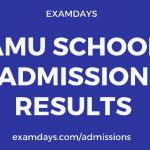 amu school admission result