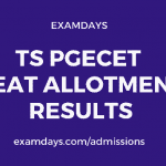 ts pgecet allotment results