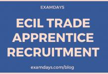 ecil trade apprentice recruitment