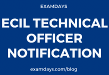 ecil technical officer notification