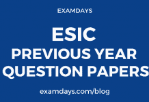 esic previous year question paper