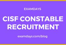 cisf constable recruitment