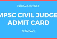 mppsc civil judge admit card