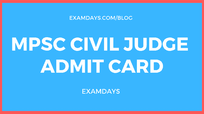 mppsc civil judge admit card