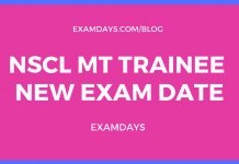 nscl mt trainee exam date