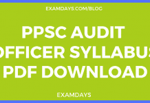 ppsc audit officer syllabus