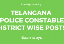 ts police constable district wise posts