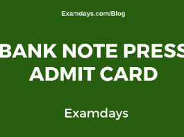 Bank Note Press Admit Card