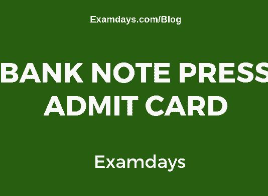 Bank Note Press Admit Card